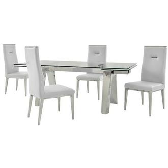 Madox/Hyde I White 5-Piece Dining Set
