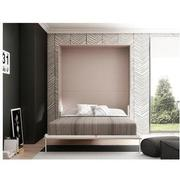 Organizer Taupe Queen Murphy Bed w/Mattress  alternate image, 2 of 7 images.