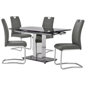 Antonia/Lila Gray 5-Piece Dining Set