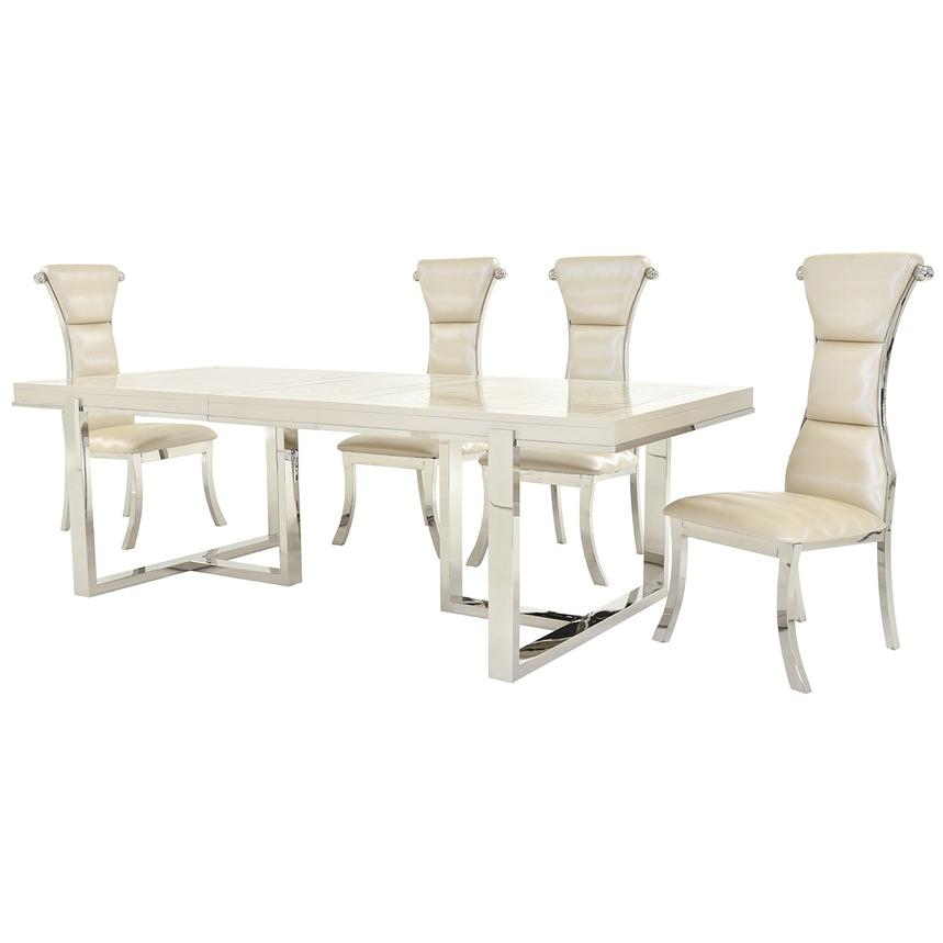Cydney/Lillian 5-Piece Formal Dining Set  alternate image, 2 of 12 images.