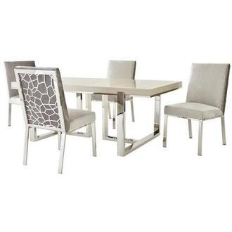 Cydney/Wellington Gray 5-Piece Formal Dining Set
