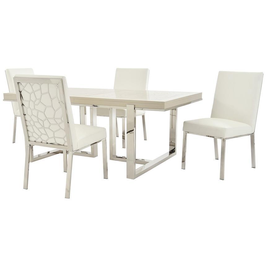 Superb Cydney Wellington Silver 5 Piece Formal Dining Set Machost Co Dining Chair Design Ideas Machostcouk
