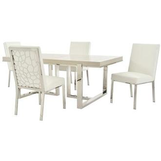 Cydney/Wellington Silver 5-Piece Dining Set