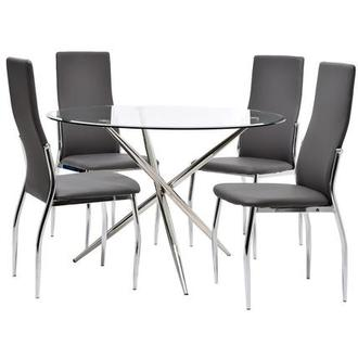 Patricia/Luna Gray 5-Piece Casual Dining Set