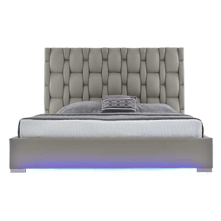 Livia Gray Queen Platform Bed  alternate image, 2 of 7 images.