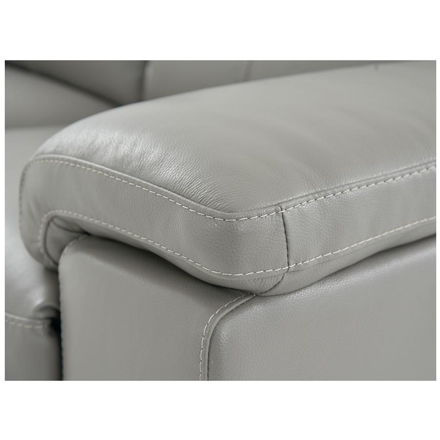Charlie Gray Leather Power Reclining Loveseat  alternate image, 7 of 9 images.