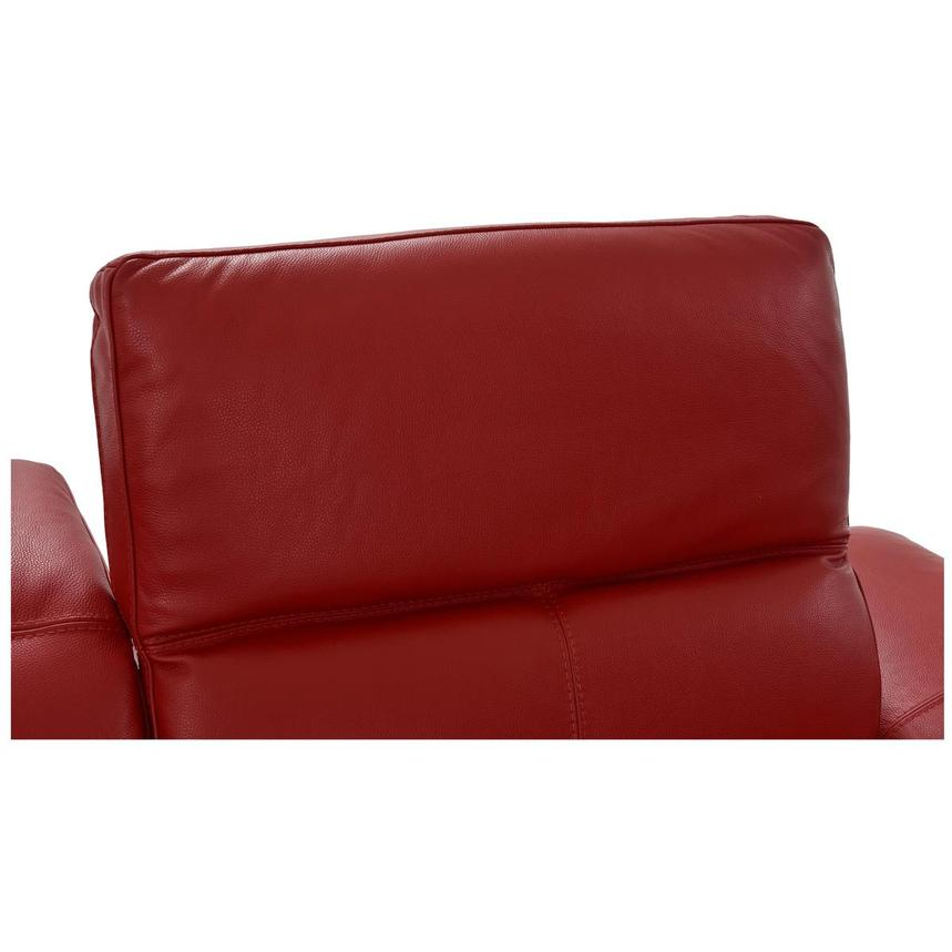Toronto Red Leather Power Reclining Sofa w/Left Chaise