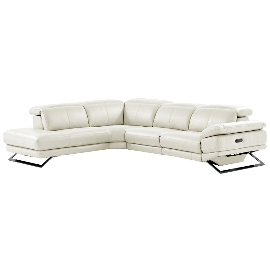 Prime Toronto White Leather Power Reclining Sofa W Left Chaise Bralicious Painted Fabric Chair Ideas Braliciousco