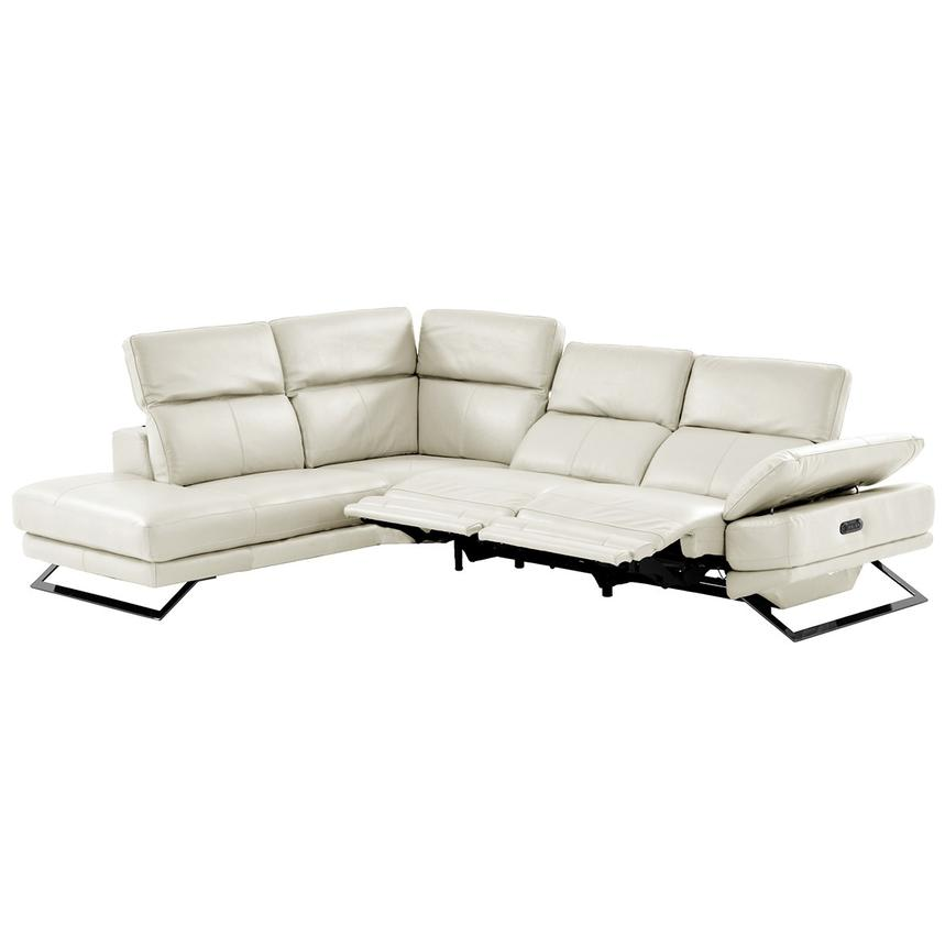 Toronto White Leather Power Reclining