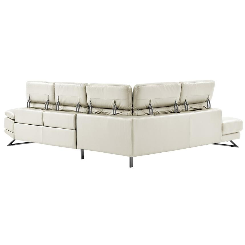Toronto White Power Motion Leather Sofa w/Left Chaise  alternate image, 3 of 11 images.