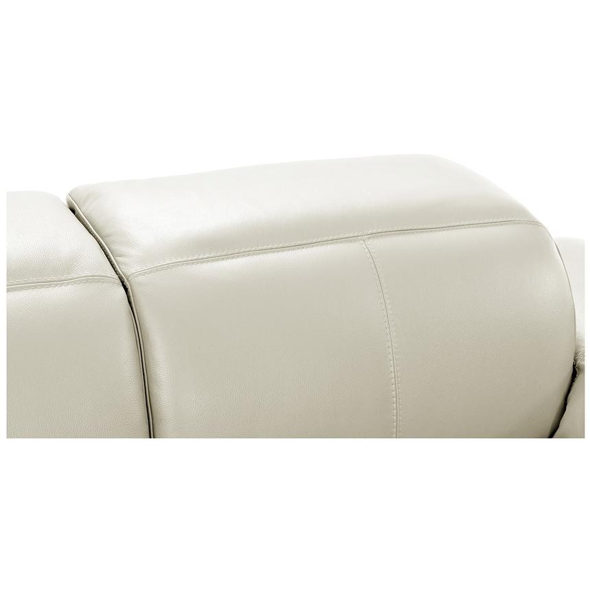 Toronto White Power Motion Leather Sofa w/Left Chaise  alternate image, 7 of 11 images.