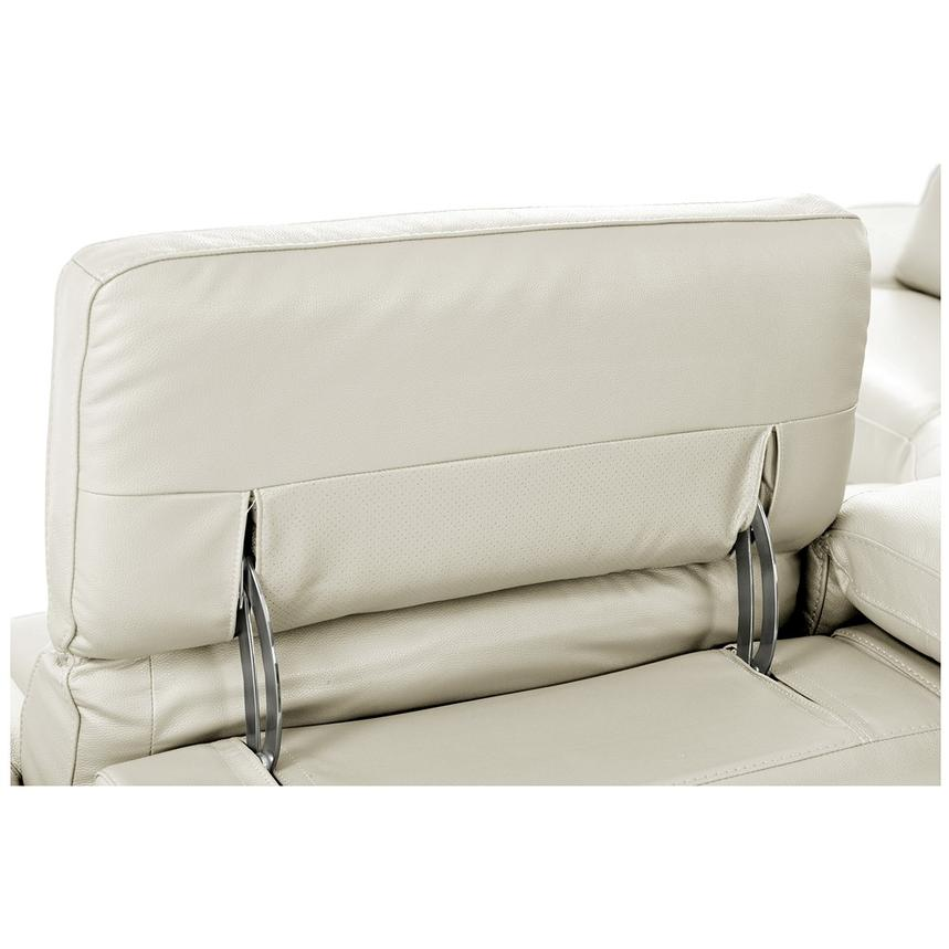Toronto White Power Motion Leather Sofa w/Left Chaise  alternate image, 8 of 11 images.