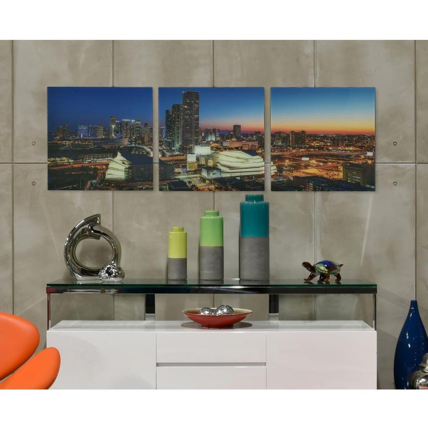 Luminous Set Of 3 Acrylic Wall Art El Dorado Furniture