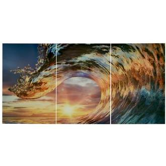 Onda II Set of 3 Acrylic Wall Art