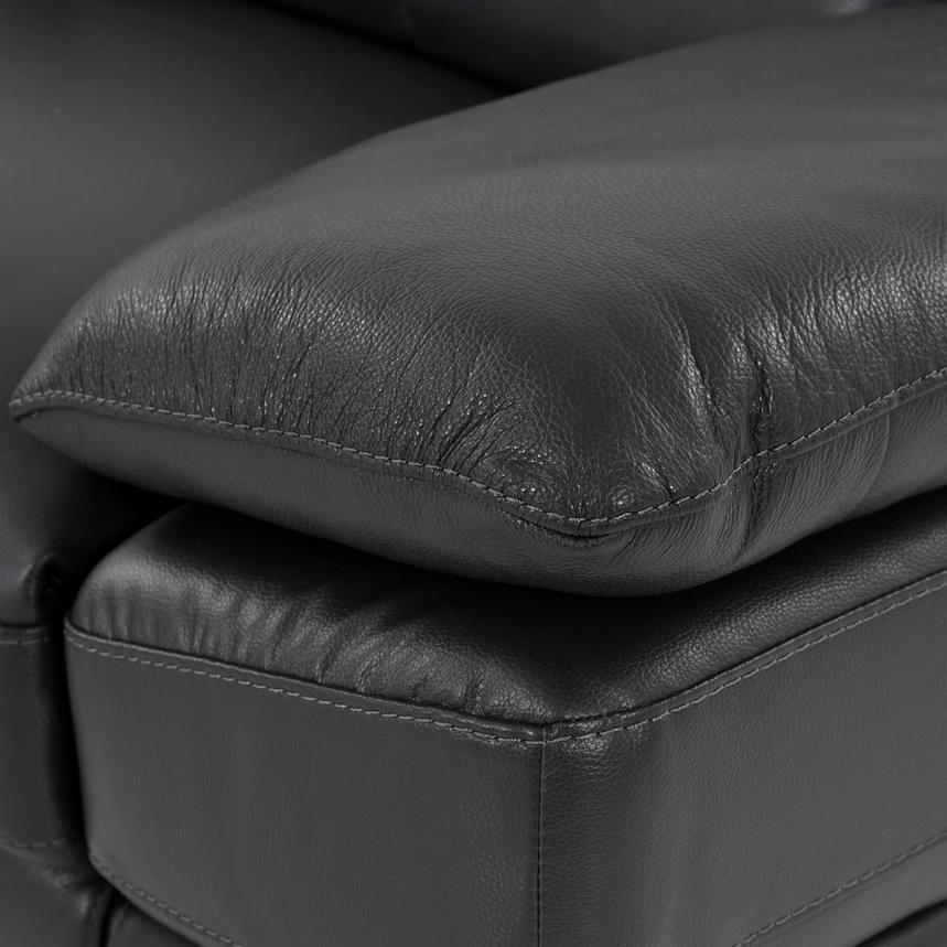 Toronto Dark Gray Leather Power Reclining Sofa w/Left Chaise  alternate image, 7 of 10 images.