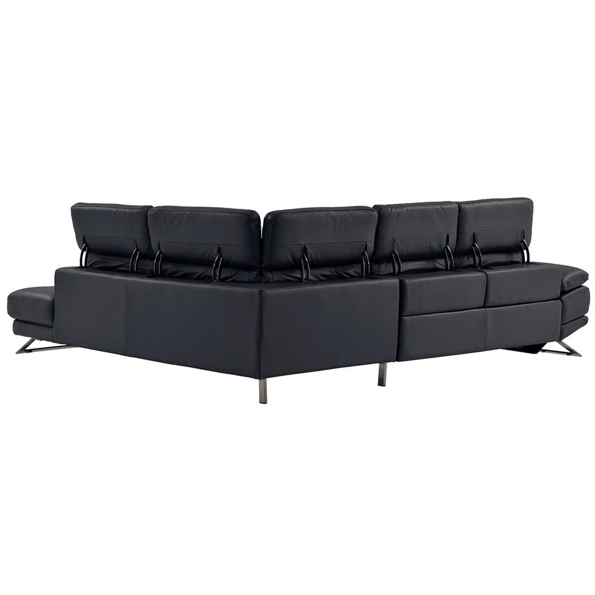 Toronto Dark Gray Power Motion Leather Sofa w/Right Chaise  alternate image, 3 of 9 images.