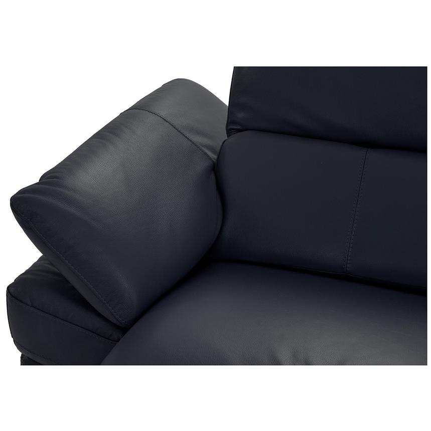 Toronto Dark Gray Power Motion Leather Sofa w/Right Chaise  alternate image, 8 of 9 images.