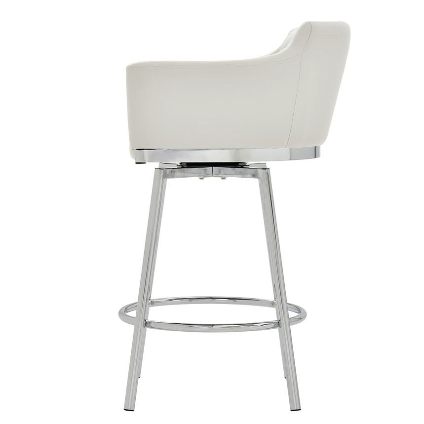Dusty White Swivel Counter Stool  alternate image, 3 of 6 images.