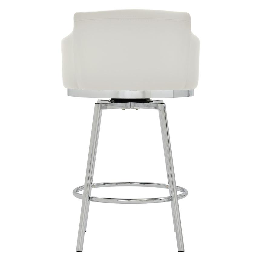 Dusty White Swivel Counter Stool  alternate image, 4 of 7 images.