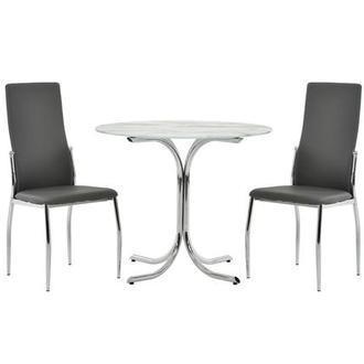 Dorothy/Luna Gray 3-Piece Casual Dining Set