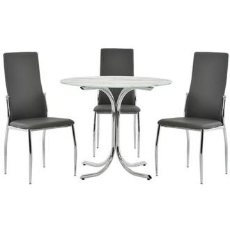 Dorothy/Luna Gray 4-Piece Casual Dining Set