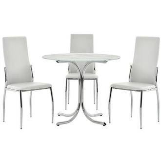 Dorothy/Luna White 4-Piece Casual Dining Set