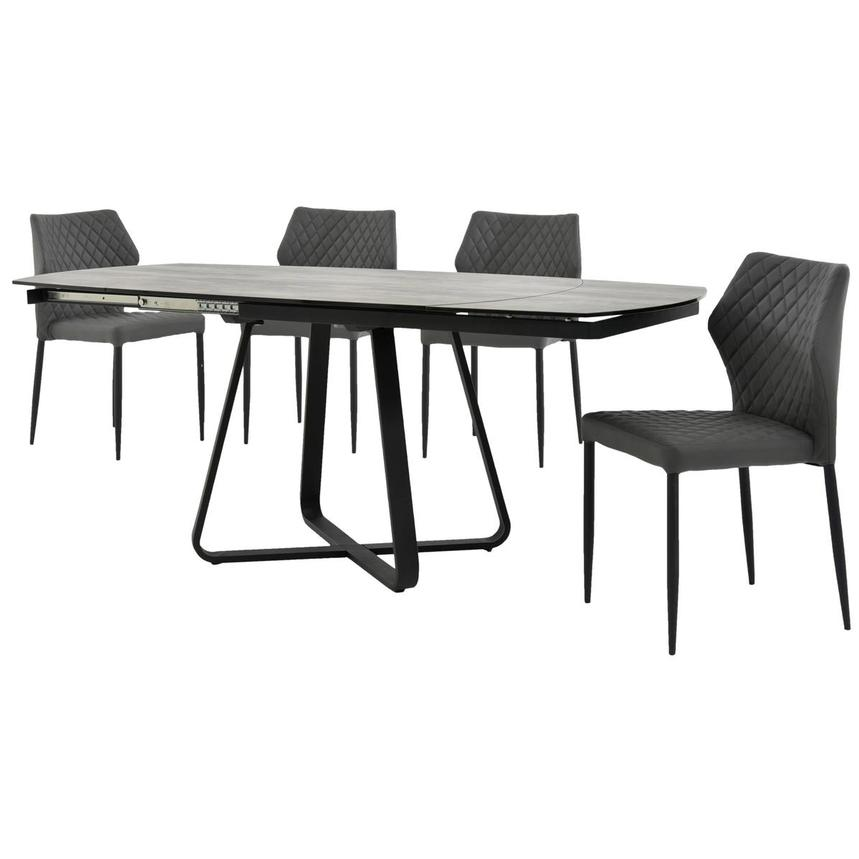 Adelle/Zari Gray 5-Piece Casual Dining Set  alternate image, 2 of 15 images.