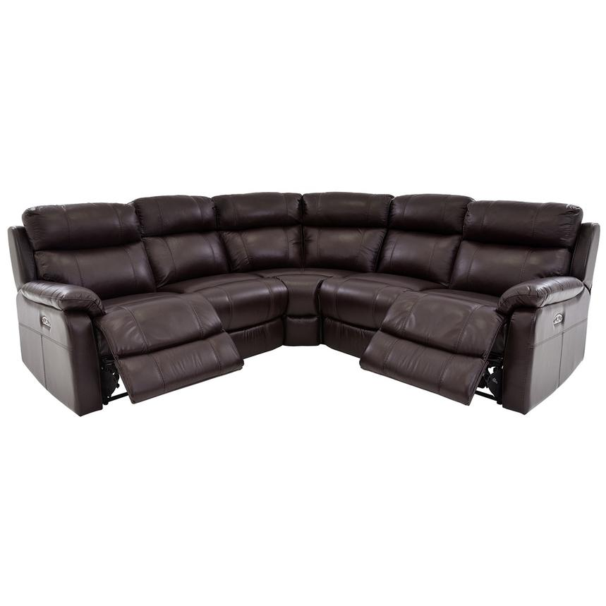 Ronald Brown Power Motion Leather Sofa W Right Amp Left