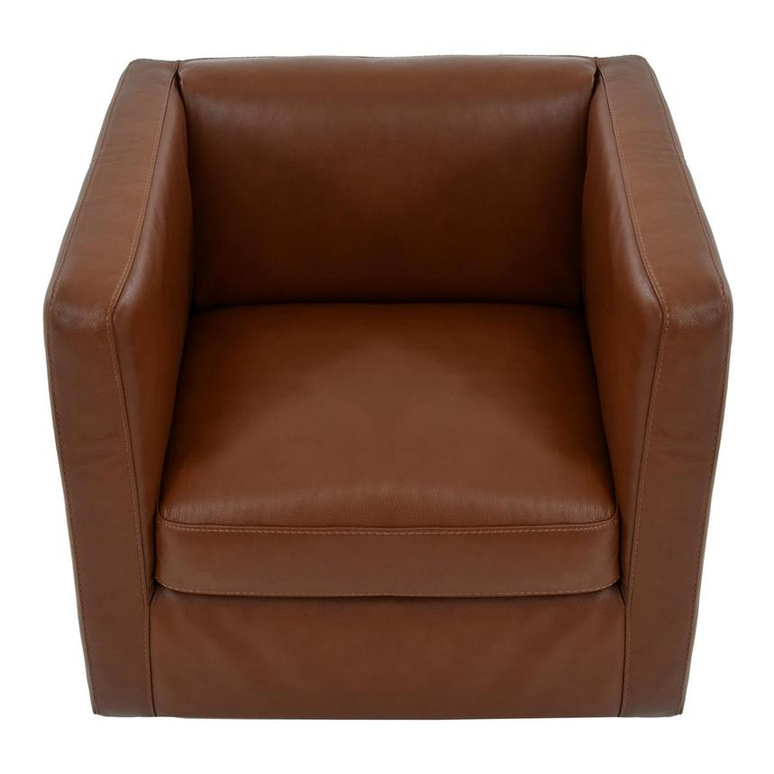 Cute Brown Leather Swivel Chair  alternate image, 5 of 6 images.
