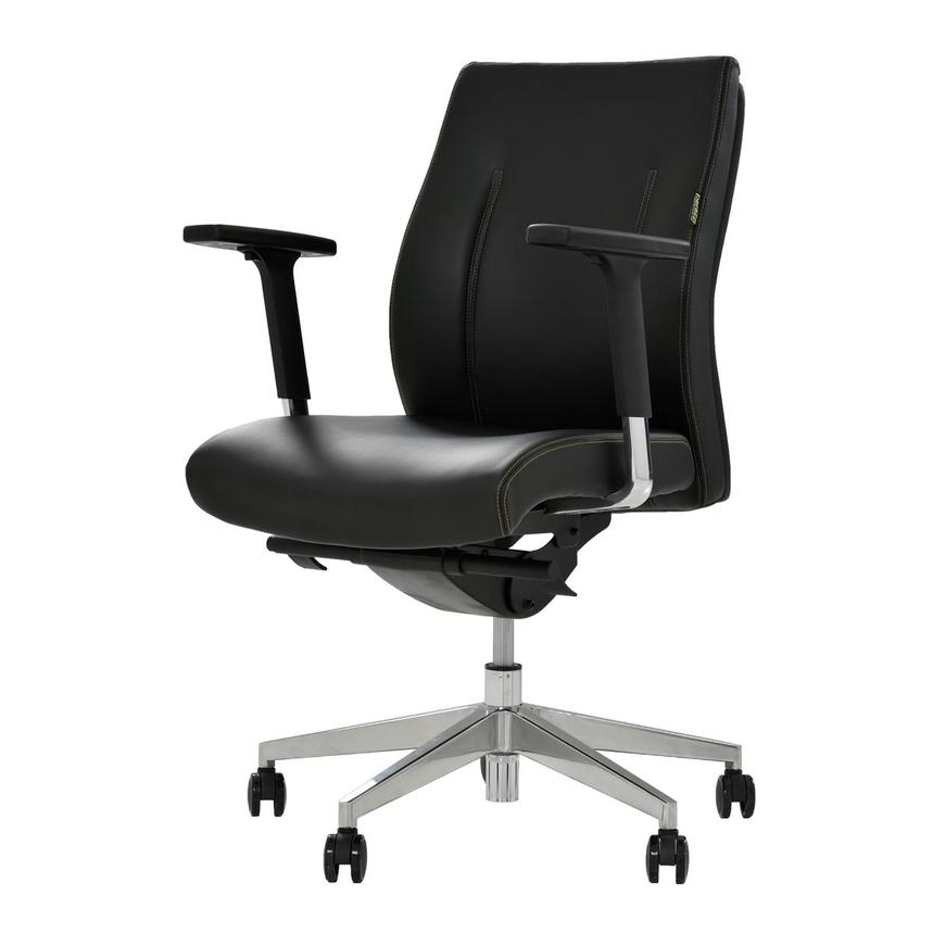 Regulo Black Low Back Desk Chair  alternate image, 3 of 8 images.