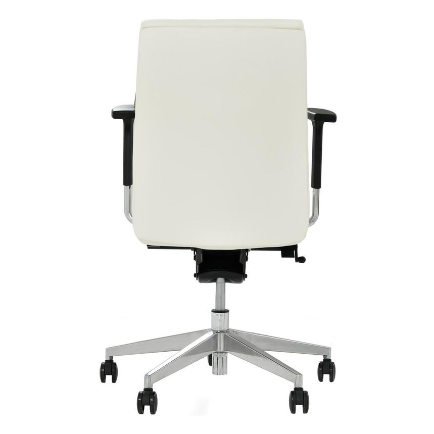 Regulo White Low Back Desk Chair  alternate image, 4 of 7 images.