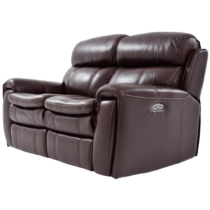 Astonishing Napa Burgundy Leather Power Reclining Loveseat Inzonedesignstudio Interior Chair Design Inzonedesignstudiocom