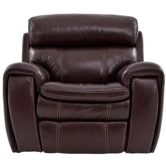 Napa Burgundy Leather Power Recliner