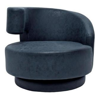 Okru Dark Blue Swivel Chair