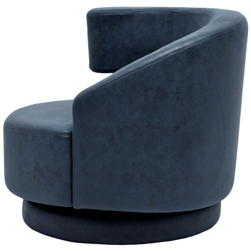 Okru Dark Blue Swivel Chair  alternate image, 3 of 6 images.