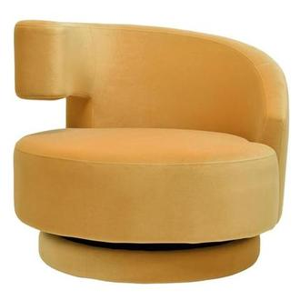 Okru Yellow Swivel Chair