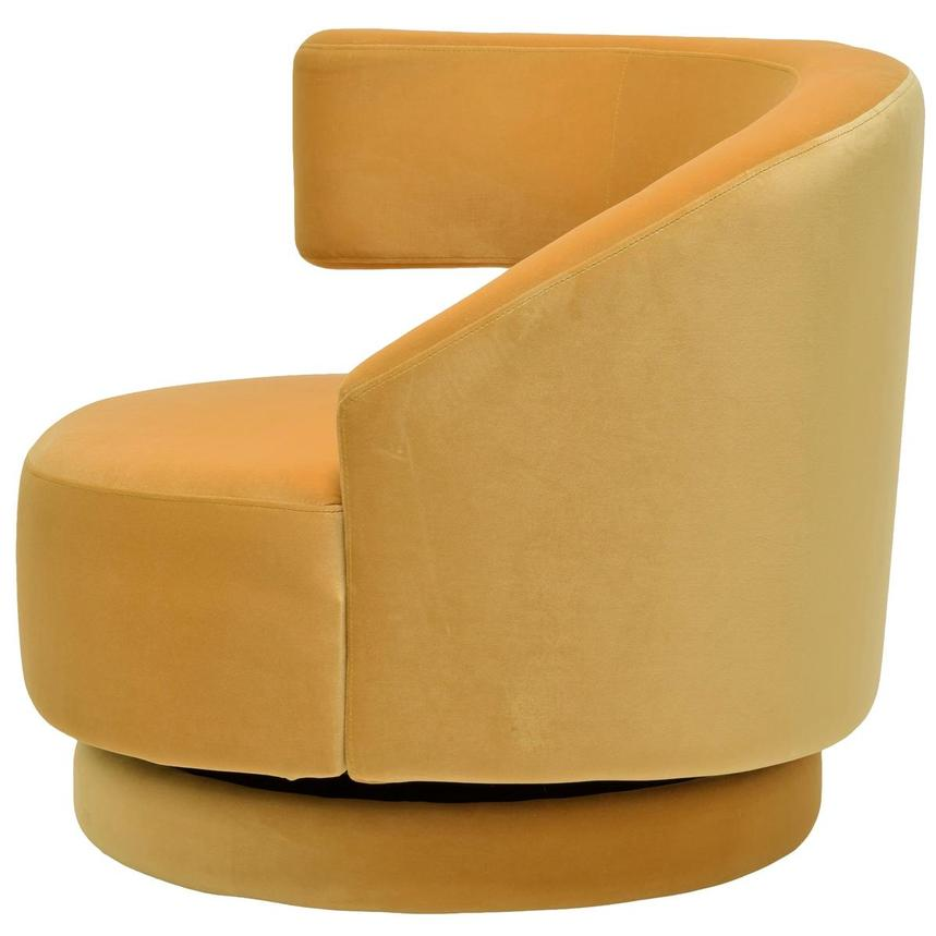 Okru Yellow Swivel Chair  alternate image, 3 of 6 images.
