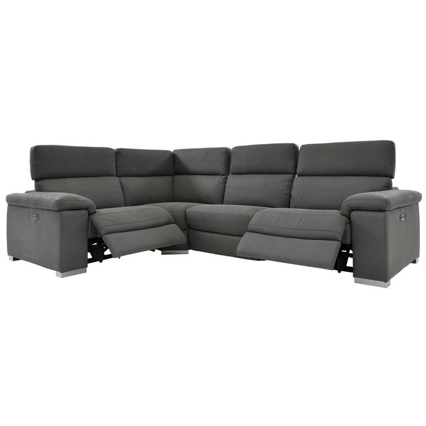 Karly Dark Gray Power Reclining Sectional  alternate image, 2 of 8 images.