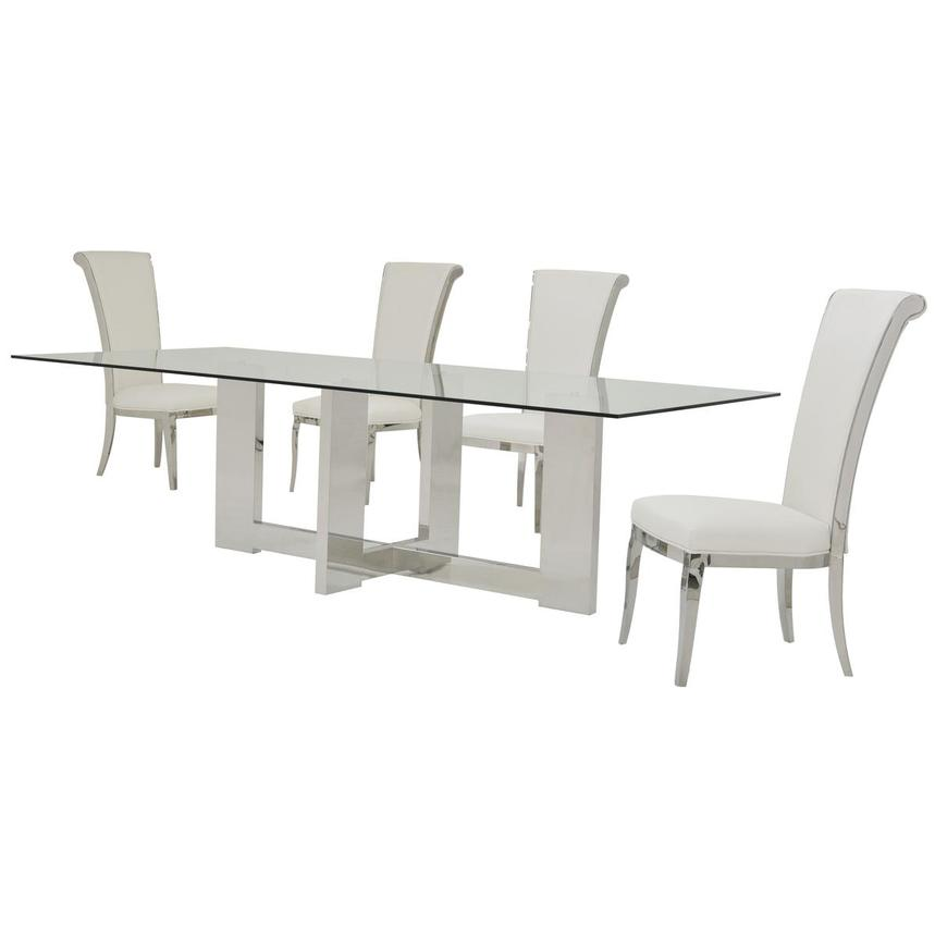 Opus/Joy White 5-Piece Dining Set  alternate image, 2 of 11 images.