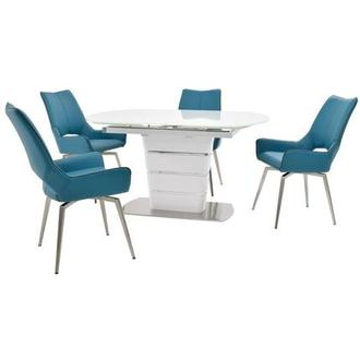 Santal/Kalia Blue 5-Piece Dining Set