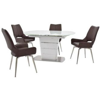 Santal/Kalia Brown 5-Piece Formal Dining Set