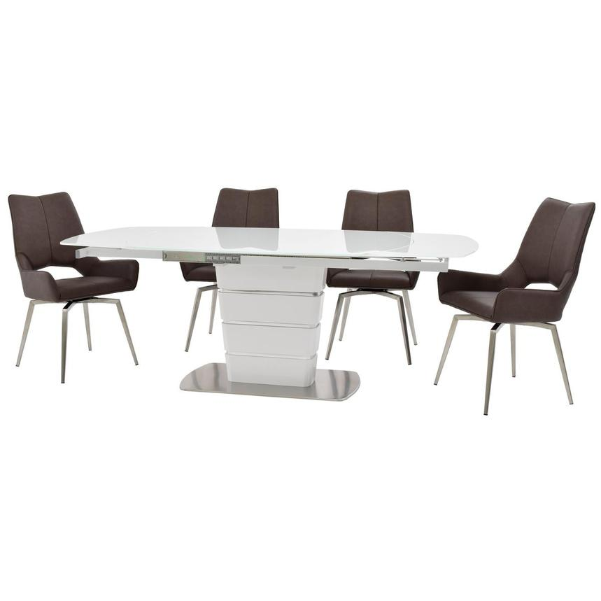 Santal/Kalia Brown 5-Piece Formal Dining Set  alternate image, 2 of 16 images.