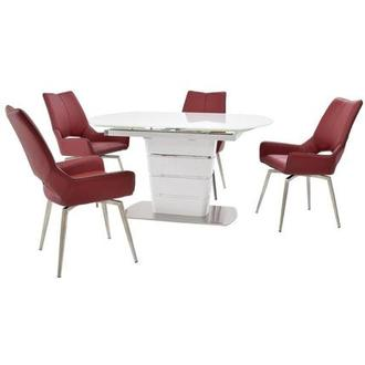 Santal/Kalia Red 5-Piece Dining Set