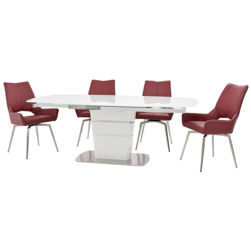 Santal/Kalia Red 5-Piece Formal Dining Set  alternate image, 2 of 16 images.