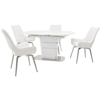 Santal/Kalia White 5-Piece Formal Dining Set