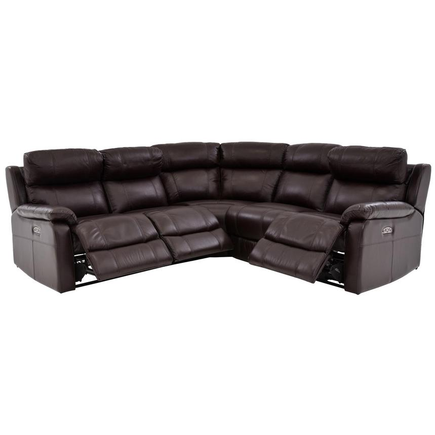 Ronald Brown Power Motion Leather Sofa w/Right & Left Recliners  alternate image, 2 of 6 images.