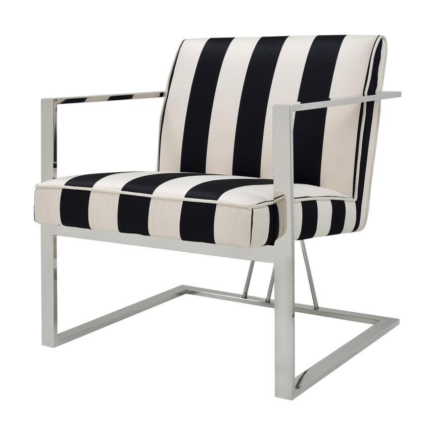 Incredible Fairmont Black White Accent Chair Machost Co Dining Chair Design Ideas Machostcouk