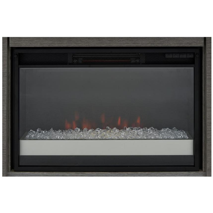 Calypso Matte Gray Faux Fireplace w/Remote Control  alternate image, 8 of 9 images.