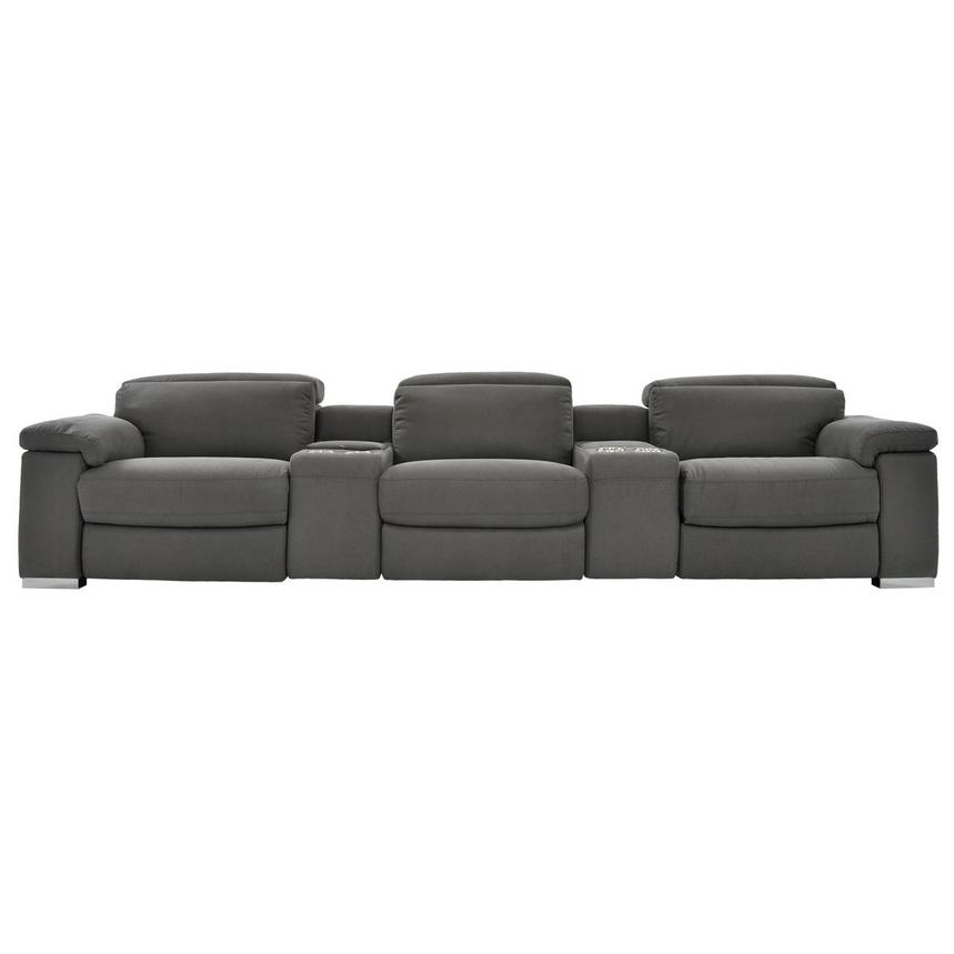 Karly Dark Gray Home Theater Seating  main image, 1 of 10 images.