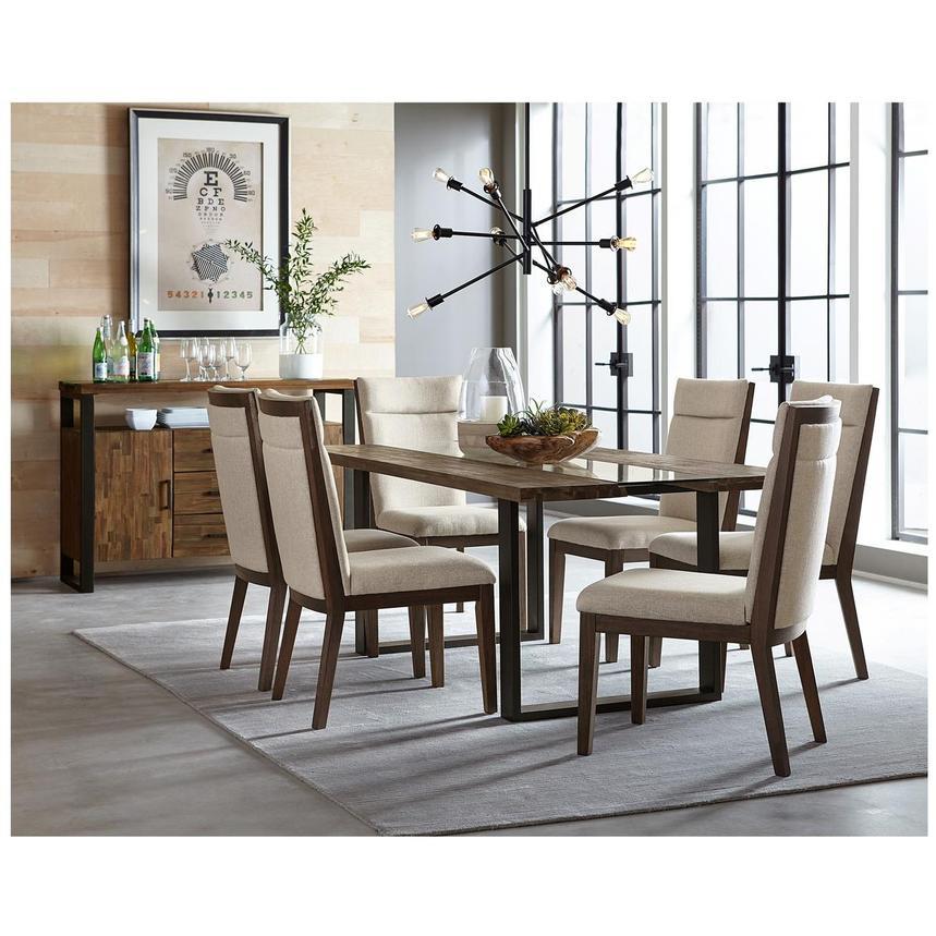 dumont 5 piece formal dining set el dorado furniture. Black Bedroom Furniture Sets. Home Design Ideas